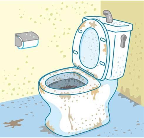 壁紙と床に染み込んだ尿臭