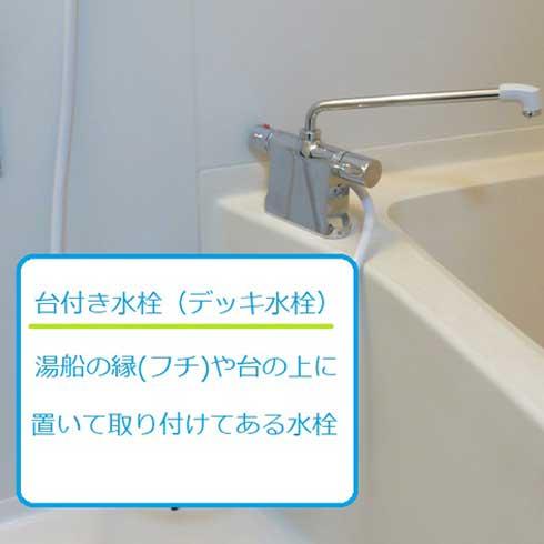 台付き水栓(デッキ水栓)