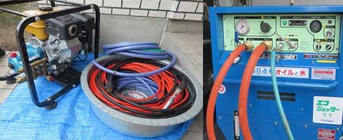 排水管の定期高圧洗浄および排水管つまり時の高圧洗浄