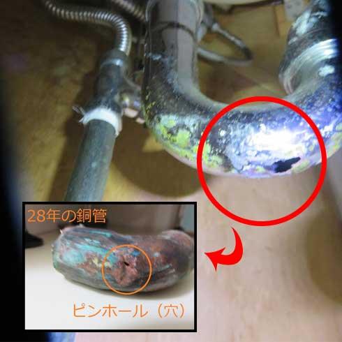 水道配管や止水栓の水漏れ